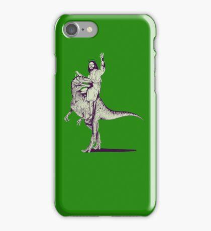Jesus Riding Dinosaur iPhone Case/Skin