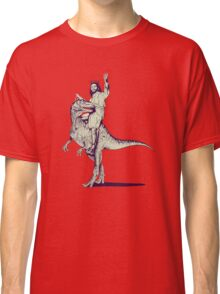 Jesus Riding Dinosaur Classic T-Shirt