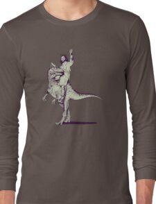 Jesus Riding Dinosaur Long Sleeve T-Shirt