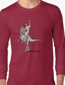 Jesus Riding Dinosaur Long Sleeve T-Shirt