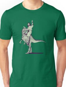Jesus Riding Dinosaur Unisex T-Shirt