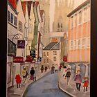 York - street scene with Minster by Kardi Somerfield