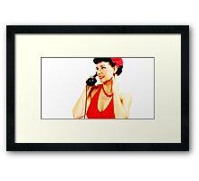 L' telephone Framed Print