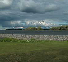 Saint Lawrence River fishing point by linmarie