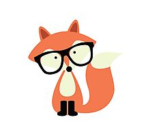 Cute Hipster Red Fox Photographic Print