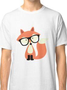 Cute Hipster Red Fox Classic T-Shirt