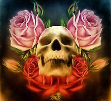 Skull And Rose's  by Gypsykiss