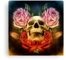 Skull And Rose's  Canvas Print