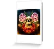 Skull And Rose's  Greeting Card