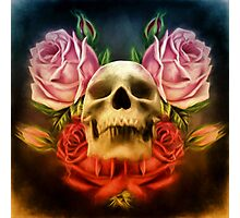 Skull And Rose's  Photographic Print