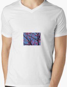 Redbud Tree Blossoms in Spring Mens V-Neck T-Shirt