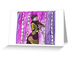 Waves Of Music Greeting Card