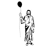 Jesus Holding Ballon Photographic Print