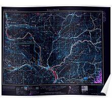 USGS Topo Map Washington Walla Walla 244506 1953 250000 Inverted Poster