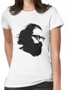 Poet Allen Ginsberg Stencil Womens Fitted T-Shirt