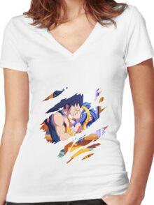 fairy tail gajeel levy anime manga shirt Women's Fitted V-Neck T-Shirt