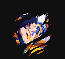 fairy tail gajeel levy anime manga shirt Unisex T-Shirt