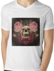 Skull And Rose's 3 Mens V-Neck T-Shirt