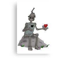 Broken Hearted  Tin man Canvas Print