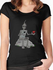 Broken Hearted  Tin man Women's Fitted Scoop T-Shirt