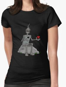 Broken Hearted  Tin man Womens Fitted T-Shirt