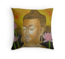 Bhuddha Enlightened Throw Pillow