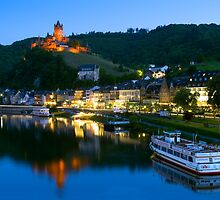 Cochem Castle on the Moselle River - Germany by Yen Baet