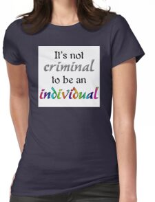 It's Not Criminal - Star Vs Quote Womens Fitted T-Shirt