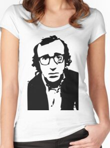 Annie Hall Woody Allen Stencil Women's Fitted Scoop T-Shirt