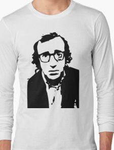 Annie Hall Woody Allen Stencil Long Sleeve T-Shirt