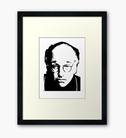 Seinfeld Comedian Larry David Framed Print
