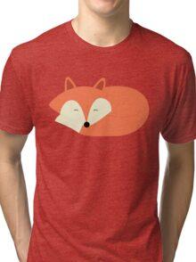 Sleeping Red Fox Tri-blend T-Shirt