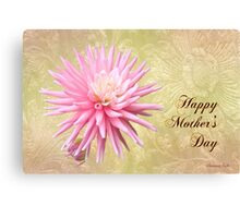 Pink Mum with Little Bud ~ for Mom Canvas Print