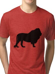 Silhouette of a Lion Tri-blend T-Shirt