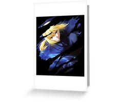 fate zero saber anime manga shirt Greeting Card