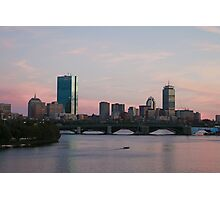 Pink Skies in Boston Photographic Print