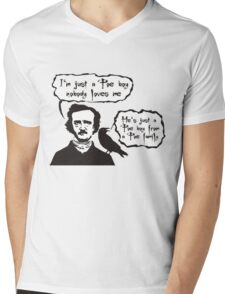 I'm just a Poe boy nobody loves me Mens V-Neck T-Shirt