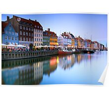 Nyhavn Harbour - Copenhagen, Denmark Poster