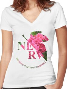 rosy nerv Women's Fitted V-Neck T-Shirt
