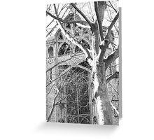 Paris Church Yard Greeting Card
