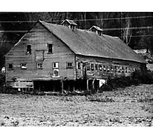 Long Barn in high contrast Photographic Print