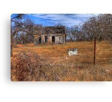 A Rotten Old Shack on A Rural Dirt Road Canvas Print