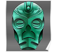 traditional dragon priest mask Poster