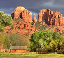 Cathedral Rock, Sedona, AZ HDR by Barb White