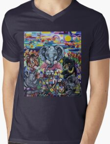 Garden Party - animals take care of the earth Mens V-Neck T-Shirt