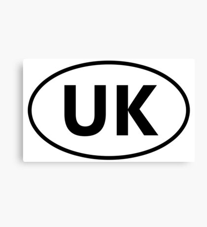 UK Sticker Canvas Print