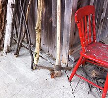 Pick Axe and Red Chair by cmason