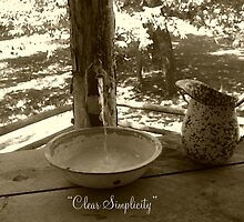 Clear Simplicity - Cabin Water Feature by Lori Worsencroft