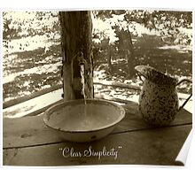 Clear Simplicity - Cabin Water Feature Poster