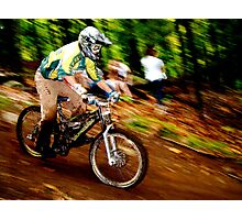 Downhill Racing at Sunday River Photographic Print